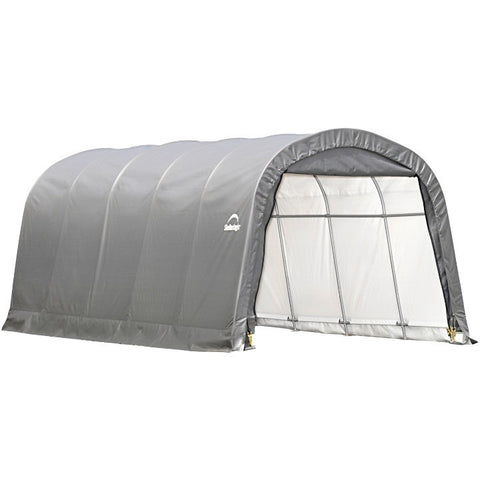 12x20x8 ft. Round Style Shelter, 6-Rib Frame, Grey Cover - Buy Online at YardEpic.com