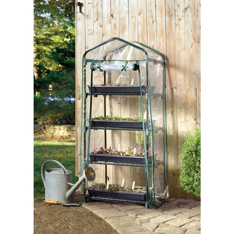2x1.5 Ft Mini Growhouse 4 Tier Shelf Style GrowIt Greenhouse - Buy Online at YardEpic.com