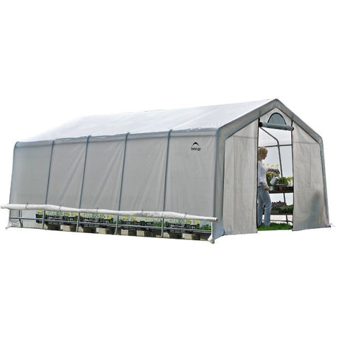 12x20x8 Heavy Duty Greenhouse - Pointed Roof - Buy Online at YardEpic.com
