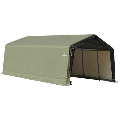 12x20x8 Peak or Round Style Shelter, Green or Grey Cover - Buy Online at YardEpic.com