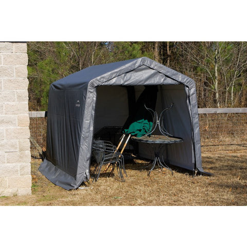 10x12x8 Peak Style Shelter, Grey Cover - Buy Online at YardEpic.com