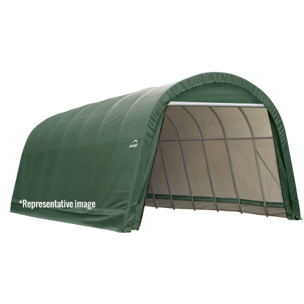 10x8x8 Round Style Shelter, Grey/Green Cover - Buy Online at YardEpic.com