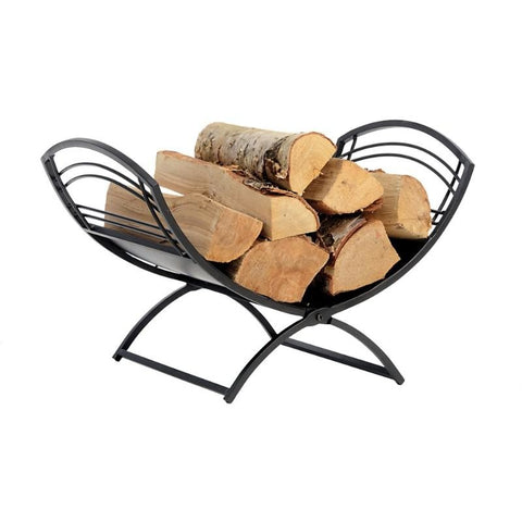 Indoor Fireplace Classic Log Holder Steel Stand - Buy Online at YardEpic.com