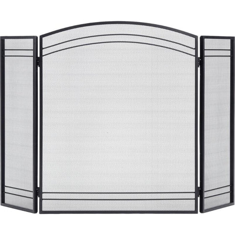 Fireplace Classic Screen 3 Panel Hinged Design Steel Metal - Buy Online at YardEpic.com