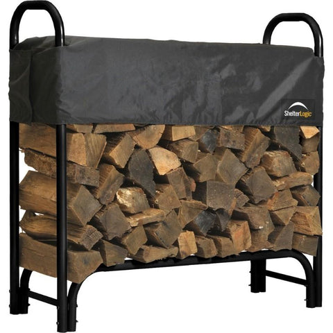 4 ft. Heavy Duty Firewood Rack w/ Cover Option - Buy Online at YardEpic.com