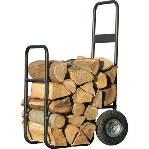 Haul It Wood Mover Firewood Dolly Transport Hand Pull Cart w/ Tires - Buy Online at YardEpic.com