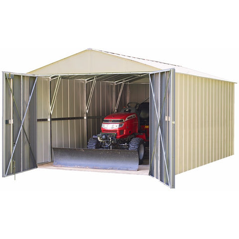 Commander Shed, 10x15, Steel, Extra Wide Swing Doors - Buy Online at YardEpic.com