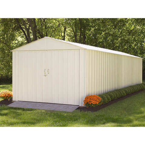 Commander Shed, 10x25, Steel, Extra Wide Swing Doors - Buy Online at YardEpic.com