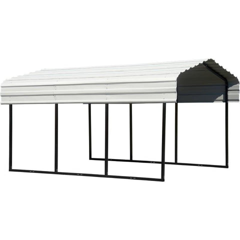 10X15X7 Arrow All Metal Driveway Carport Car Cover - Buy Online at YardEpic.com