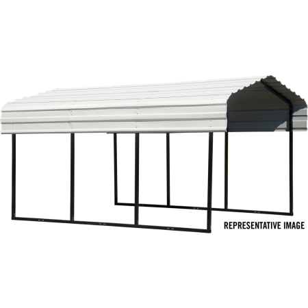 10X29X7 CARPORT Long Full Metal Shade Shelter - Buy Online at YardEpic.com