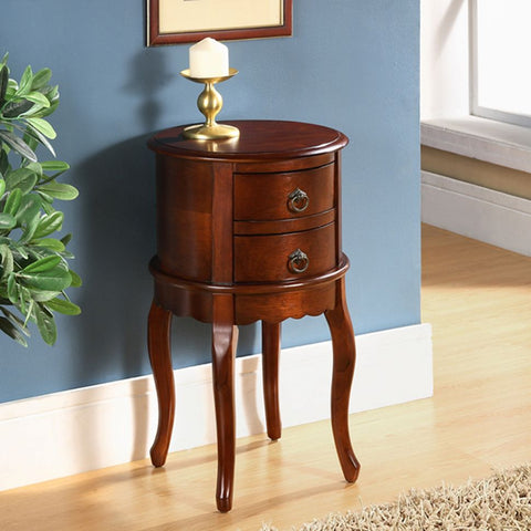 Small Twin Drawer Round Table Hallway Living Room