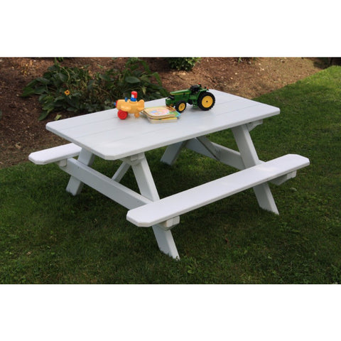 "Kid's Table (22"" Wide) in Yellow Pine Wood - Buy Online at YardEpic.com"