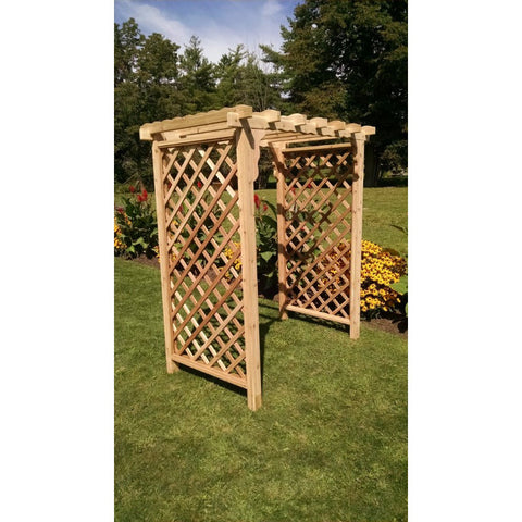 Covington Arbor in Cedar - Buy Online at YardEpic.com