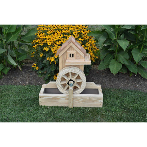 Waterwheel Gristmill w/ Electric Pump Yard Decoration - Buy Online at YardEpic.com