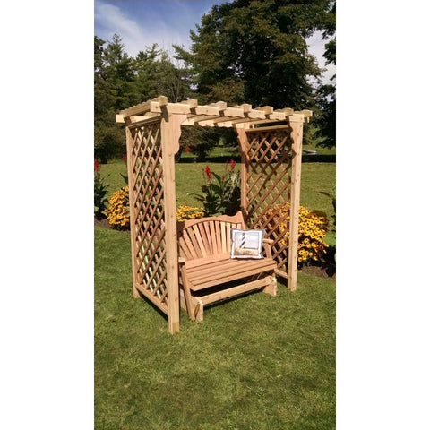 Covington Arbor w/ Glider in Cedar - Buy Online at YardEpic.com