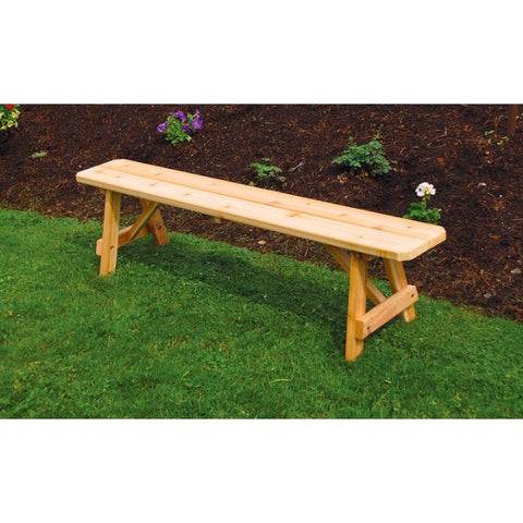 Wooden Traditional Long Bench in Cedar - Buy Online at YardEpic.com
