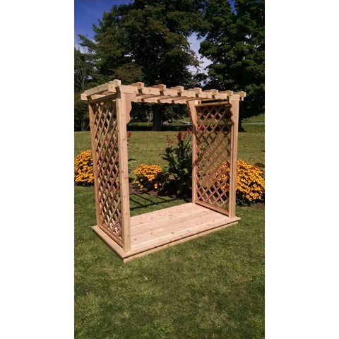 Covington Arbor & Deck in Cedar - Buy Online at YardEpic.com
