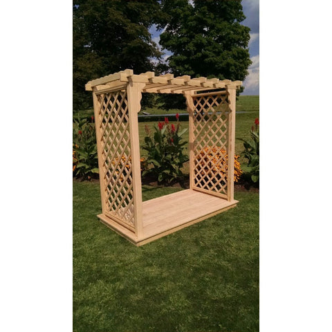 Covington Arbor & Deck in Pine - Buy Online at YardEpic.com