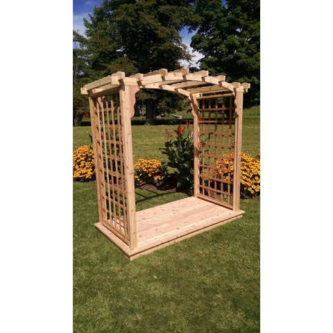 Cambridge Arbor & Deck in Cedar Wood - Buy Online at YardEpic.com