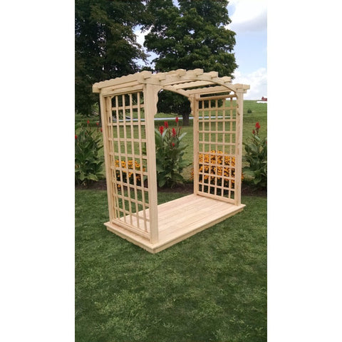 Cambridge Arbor & Deck in Pine Wood - Buy Online at YardEpic.com
