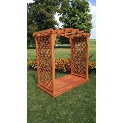 Jamesport Arbor & Deck in Pine - Buy Online at YardEpic.com