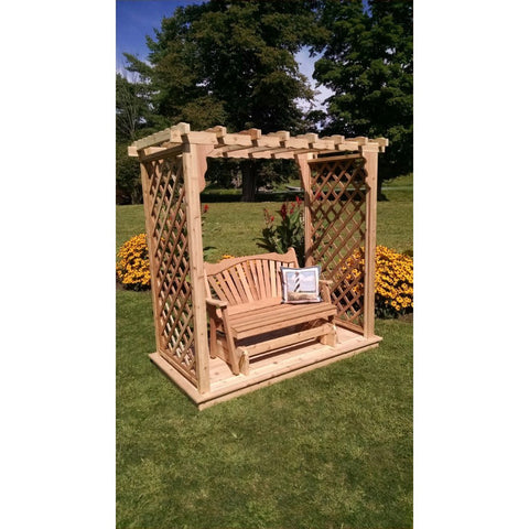 Covington Arbor w/ Deck & Glider in Cedar - Buy Online at YardEpic.com