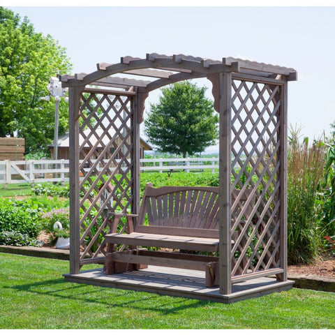 Jamesport Arbor w/ Glider in Cedar - Buy Online at YardEpic.com