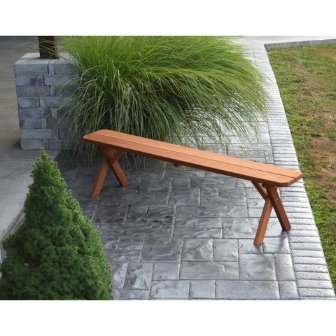Cross-leg Bench in Cedar - Buy Online at YardEpic.com