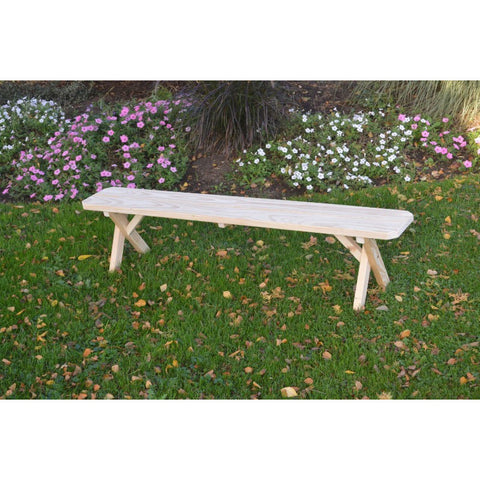 Cross-leg Bench in Pressure Treated Pine - Buy Online at YardEpic.com