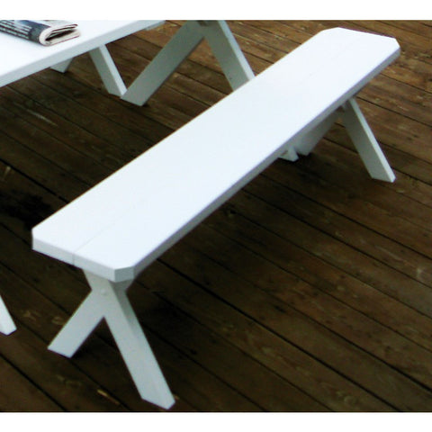 Cross-leg Bench 5, 6, & 8 Ft. in Yellow Pine - Buy Online at YardEpic.com
