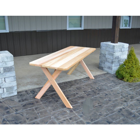Cross-leg Table in Cedar - Buy Online at YardEpic.com