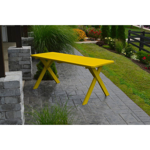 Cross-leg Table in Yellow Pine Wood - Buy Online at YardEpic.com