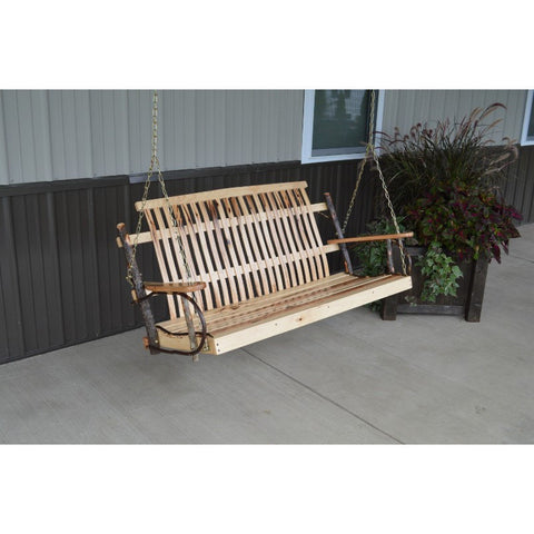 4ft, 5ft Hickory Porch Swing - (Chains Included) - Buy Online at YardEpic.com