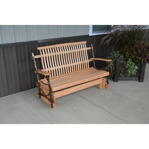 Outdoor Hickory Patio Porch Glider - 4 & 5 Foot Width - Buy Online at YardEpic.com