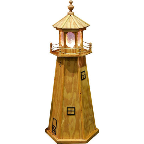 Pressure Treated Wood Lighthouse with Light - Buy Online at YardEpic.com