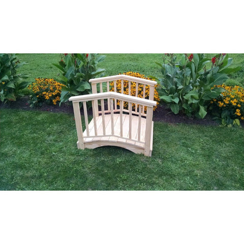 Baluster Garden Bridge w/ Rails - Pine - Buy Online at YardEpic.com