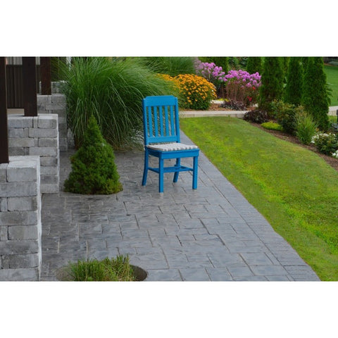 Traditional Dining Chair in HDPE Poly Outdoor Plastic - Buy Online at YardEpic.com