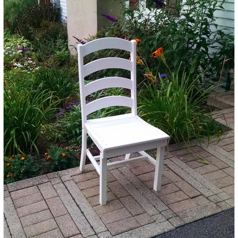 Ladderback Dining Chair HDPE Poly Plastic - Buy Online at YardEpic.com
