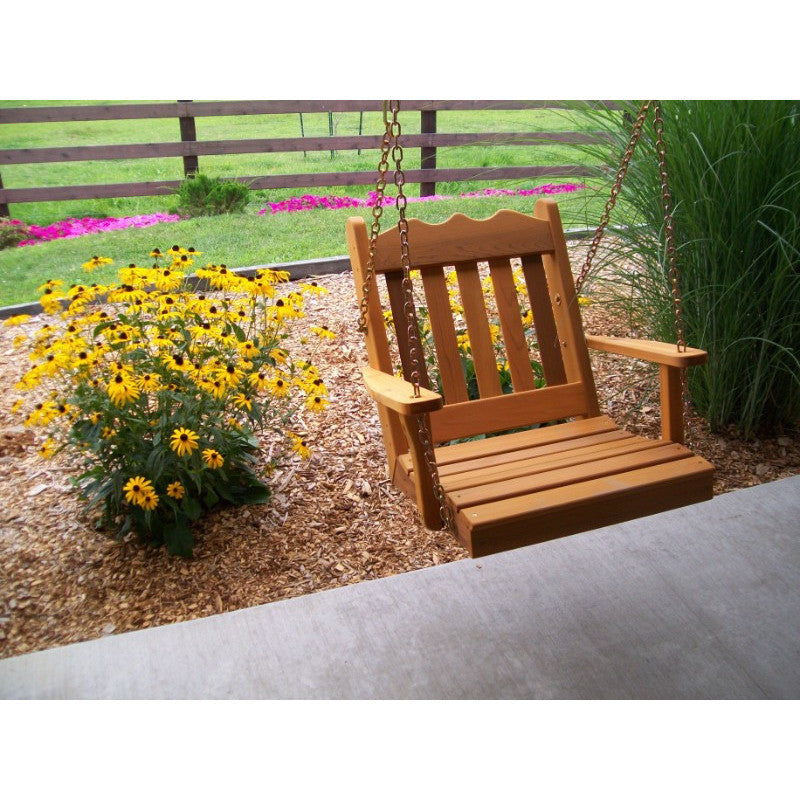 Wooden Hanging Chair Swing Bench Cedar Many Widths Yardepic