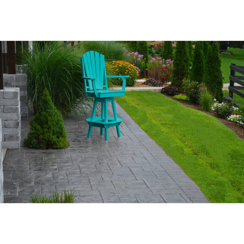 Adirondack Swivel Bar Chair w/ Arms in Poly HDPE - Buy Online at YardEpic.com