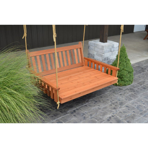 Traditional English Swingbed in Cedar - Buy Online at YardEpic.com