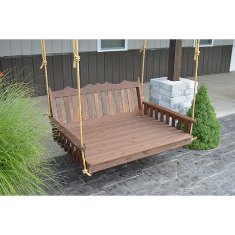 Royal English Garden Swing Bed in Cedar Wood - Buy Online at YardEpic.com
