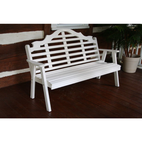 Marlboro Garden Bench in Yellow Pine - Buy Online at YardEpic.com