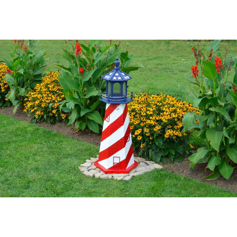 Patriotic, USA Replica Lighthouse - Buy Online at YardEpic.com