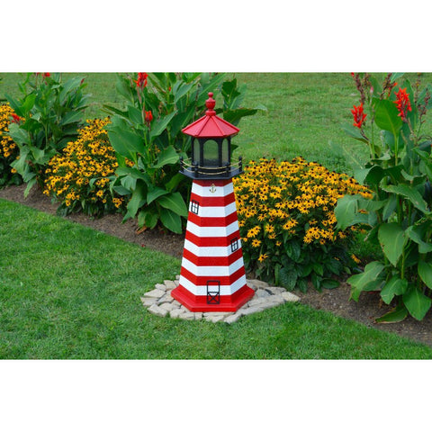 West Quoddy, Maine Replica Lighthouse - Buy Online at YardEpic.com
