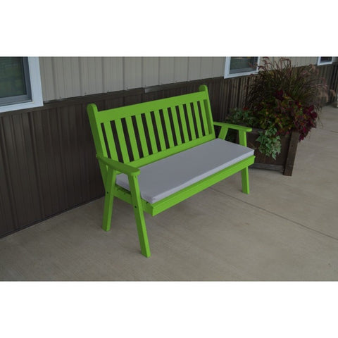 Traditional English Garden Bench in Pine Wood - Buy Online at YardEpic.com