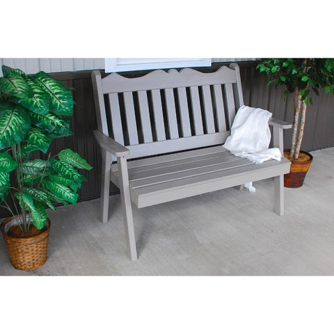 Royal English Garden Bench in Pine - Buy Online at YardEpic.com