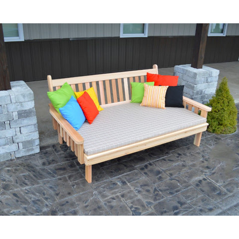 Traditional English Daybed in Red Cedar - Buy Online at YardEpic.com