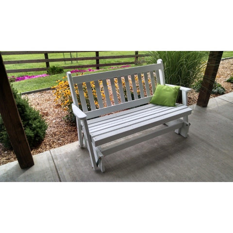 Traditional English Glider Bench in Pine - Buy Online at YardEpic.com