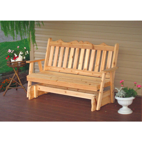 Royal English Glider Cedar Wood Porch Bench - Buy Online at YardEpic.com